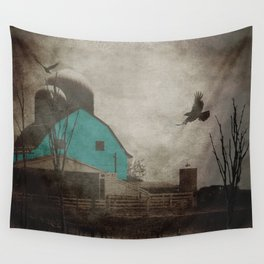 Rustic Teal Barn Country Art A158 Wall Tapestry