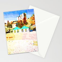 L'Aquila: buildings, prefabricated and curtains Stationery Cards