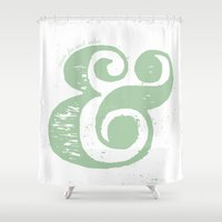 ampersand Shower Curtains featuring Ampersand by made for each other