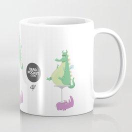 Dragons Ride Rhinos Coffee Mug