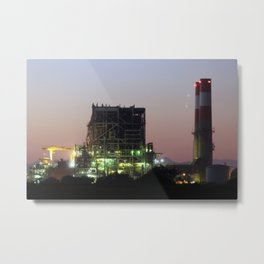 Power Station Lights Metal Print