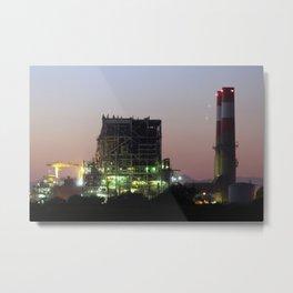 Power Station Lights Metal Print