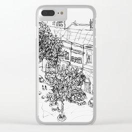 Rua da Moeda Clear iPhone Case