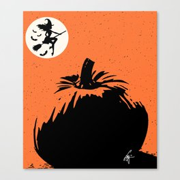 Witches and Pumpkins Canvas Print