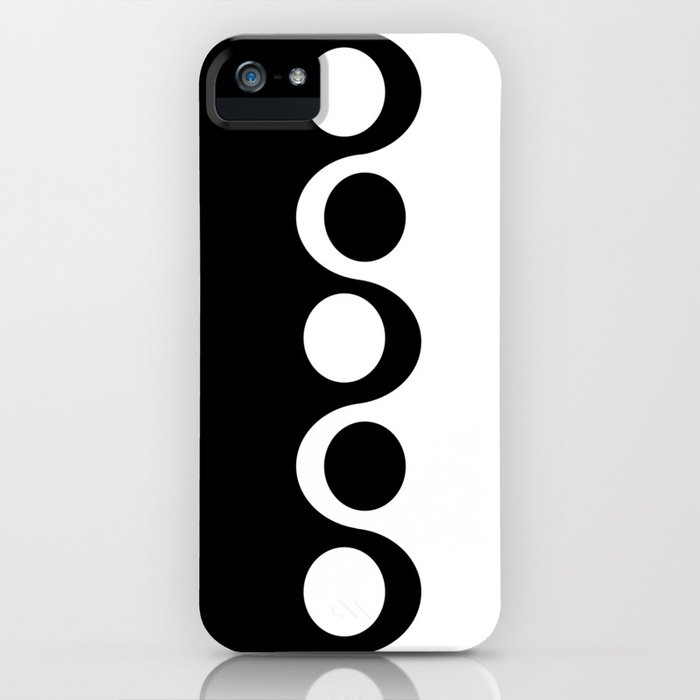 Black and White Mod iPhone Case