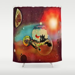 SPACE TURTLE VII - 202 Shower Curtain