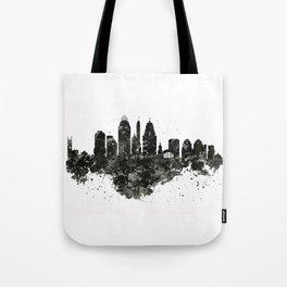 Cincinnati Skyline Black and White Tote Bag