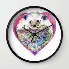 HedgeHog Heart by Michelle Scott of dotsofpaint studios Wall Clock