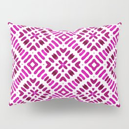 Shibori Watercolour no.7 Magenta Pillow Sham