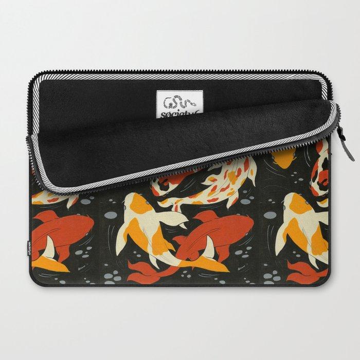 Koi in Black Water Laptop Sleeve