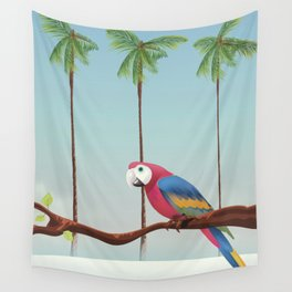 Parrott and Palms Wall Tapestry