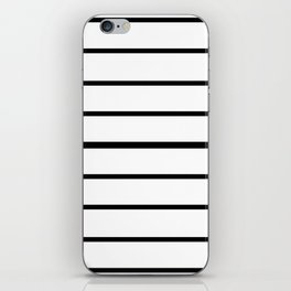 Simple Black and White Lines Decor iPhone Skin