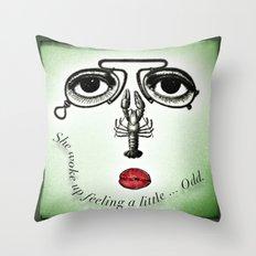 Feeling Odd Throw Pillow
