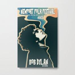 Newport Folk Festival Gig Poster 1965 - Bob Dylan - Music - Sixties - Illustration Metal Print