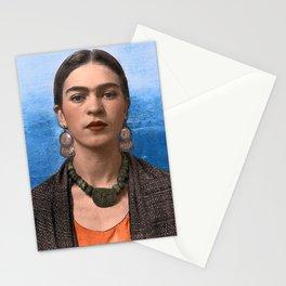 FRIA KAHLO CON COLLAR DE PIEDRA Stationery Cards
