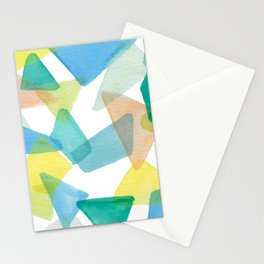 Boys Play Translucent Triangles Stationery Cards