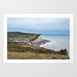 Seven Sisters Cliffs at Birling Gap, East Sussex Art Print