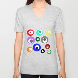Cirlces within Circles Unisex V-Neck