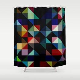 Ovinnik - Abstract Coloful Dark Diamond Shape Art Shower Curtain