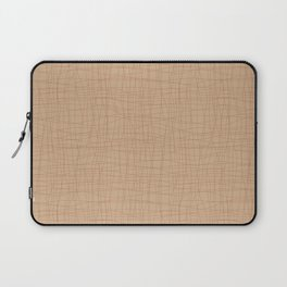 Cavern Clay SW 7701 Hand Drawn Abstract Mosaic Grid Pattern on Ligonier Tan SW 7717 Laptop Sleeve
