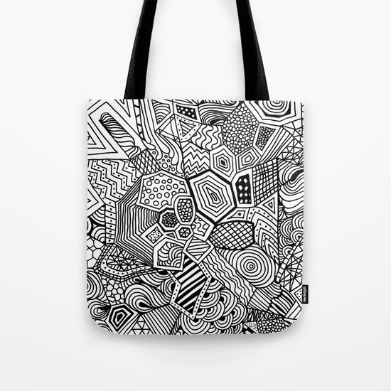 Lucky Abstract Geometric DREAM CATCHER Tote Bag