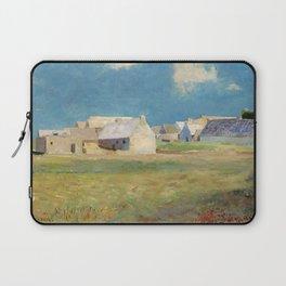 "Odilon Redon ""Breton Village"" Laptop Sleeve"