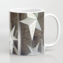 Paper Stars Rustic Barn Decoration Coffee Mug