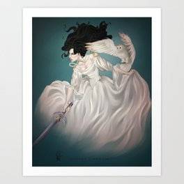The Owl and The Sword Art Print