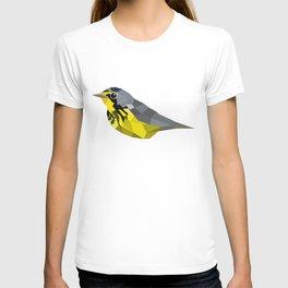 Bird art canada warbler Yellow gray T-shirt
