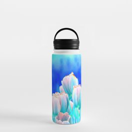 Tulips in Spring Abstract Water Bottle