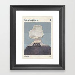 Emily Brontë Wuthering Heights - Minimalist literary design Framed Art Print