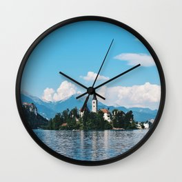 Lake Bled, Slovenia Wall Clock