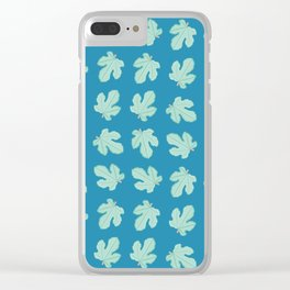 Fig Tree Leaves Pattern Clear iPhone Case