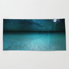 Night Swimming Beach Towel