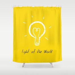 Light of the World - yellow Shower Curtain