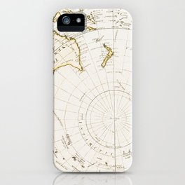 Southern Hemisphere - reproduction of William Faden's 1790 engraving iPhone Case