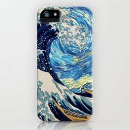 Starry (Great Wave) Night iPhone Case