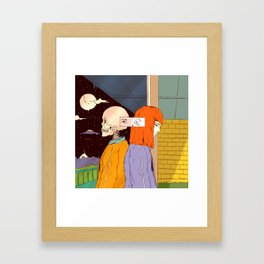 Haunting Past (A Reflection) Framed Art Print