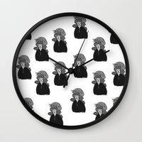 hermione Wall Clocks featuring Hermione and Crookshanks  by zoosemiotics