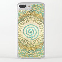 Pastel and Gold  Choku Rei Symbol in Mandala Clear iPhone Case