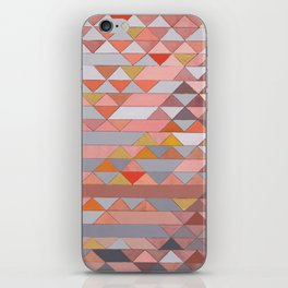 Triangle Pattern no.5 Gold, Pink and Brown iPhone Skin
