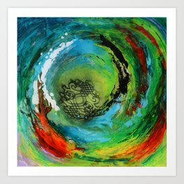 Maelstrom, captivating abstract painting Art Print