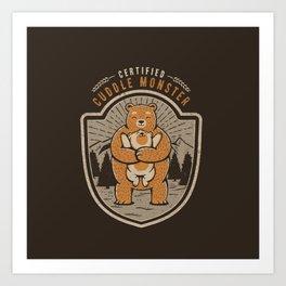 Certified Cuddle Monster Art Print
