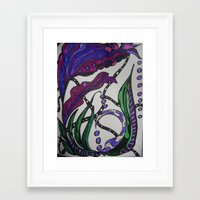 under the sea Framed Art Prints featuring Under Sea by BlueMuseStudio7