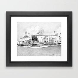 Old Tiger Stadium | Detroit Michigan Framed Art Print