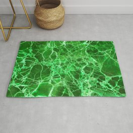 Emerald Green Marble Rug