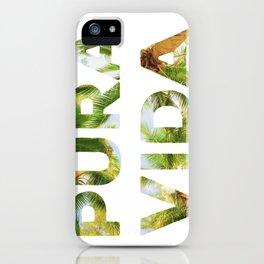 Pura Vida Costa Rica Palm Trees iPhone Case