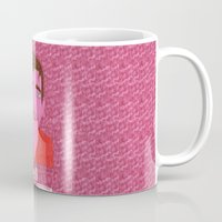hell Mugs featuring hell by Marina Nosequé