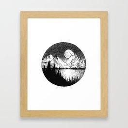 Moonlit Alaska Framed Art Print