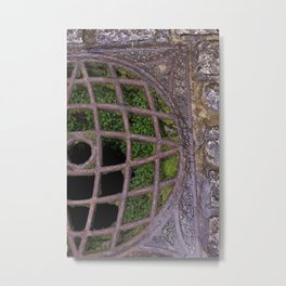 Mossy Grate at St. Michael's Mount Metal Print